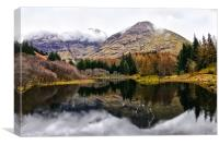 Scotland Mountain Reflections, Canvas Print