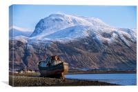 Ben Nevis and Boat, Canvas Print