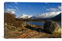 Glen Etive and Loch Etive, Canvas Print