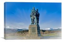 The Commando Monument, Canvas Print