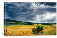 Storm Clouds and Sunbeams, Canvas Print
