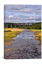 The Findhorn River Viaduct, Canvas Print