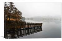 Misty Autumn Morning, Canvas Print