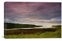 Evening Sky on Skye, Canvas Print
