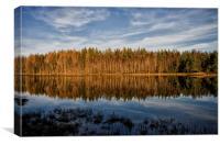 Loch a Chaorainn Reflections, Canvas Print