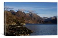 Loch Duich & the Five Sisters, Canvas Print