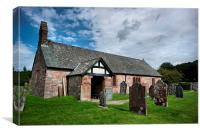 St Catherine's Church, Boot, Eskdale, Canvas Print