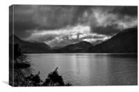 Stormy March day by Loch Duich, Scotland, Canvas Print