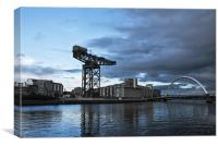 Finnieston Quay Reflections Glasgow, Canvas Print