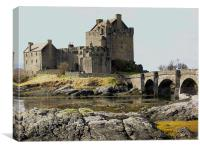 Eilean Donan Castle in Winter, Canvas Print