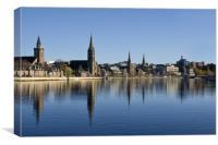 River Ness in Inverness Scotland, Canvas Print