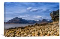 Elgol View to the Black Cuillin, Canvas Print