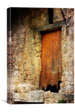 Ever So Slightly Old Door, Canvas Print