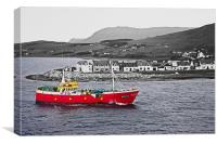 Sailing Into Ullapool Harbour, Canvas Print