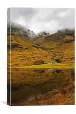 Cottage in Glencoe, Canvas Print