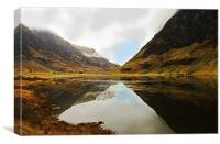 Loch Achtriochtan Reflections Glencoe, Canvas Print