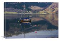 Boat on Loch Leven, Canvas Print