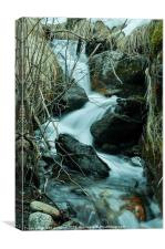 winter waterfall, Canvas Print