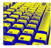 Abstract keyboard, Canvas Print