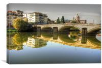 River Arno, Canvas Print
