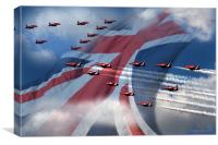 Display  (Red Arrows), Canvas Print