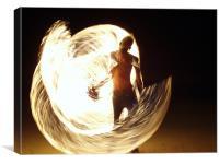 fire dancing, Canvas Print
