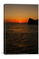 A Maltese Sunset, Canvas Print