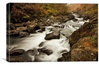 River Glaslyn, Canvas Print