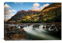 A View Of Glen Coe, Canvas Print