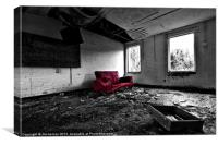 The Red Sofa, Canvas Print