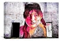 Graffiti Girl, Canvas Print