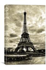 Eiffel Tower By The Seine, Canvas Print