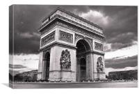 The Arc De Triomphe, Canvas Print