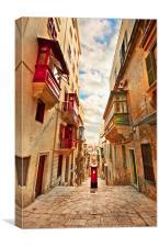 Maltese Street, Canvas Print