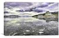 Icy Day At Castle Tioram, Canvas Print