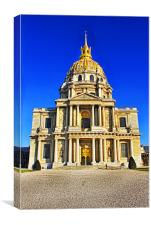 The Golden Dome Of The Church At Les Invalides, Canvas Print