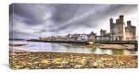 A View Of Caernarfon, Canvas Print