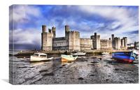 The Castle At Caernarfon, Canvas Print