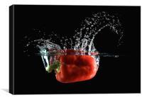 Red Pepper Slash, Canvas Print