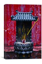Chinese Prayer Altar, Canvas Print