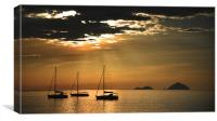 Bright Moorings, Canvas Print