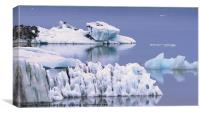 Glacial Textures, Canvas Print