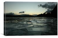 Icy Loch Morlich, Canvas Print