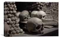Skulls of Kutná Hora, Canvas Print