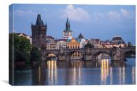 Prague Evening, Canvas Print