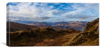 Over the Trossachs, Canvas Print