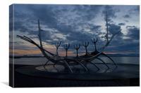 Viking Boat, Reykjavik, Canvas Print