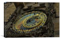 astronomical clock, Canvas Print