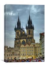Pragues 15th century Gothic Church, Canvas Print