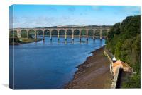 Royal Border Bridge, Canvas Print
